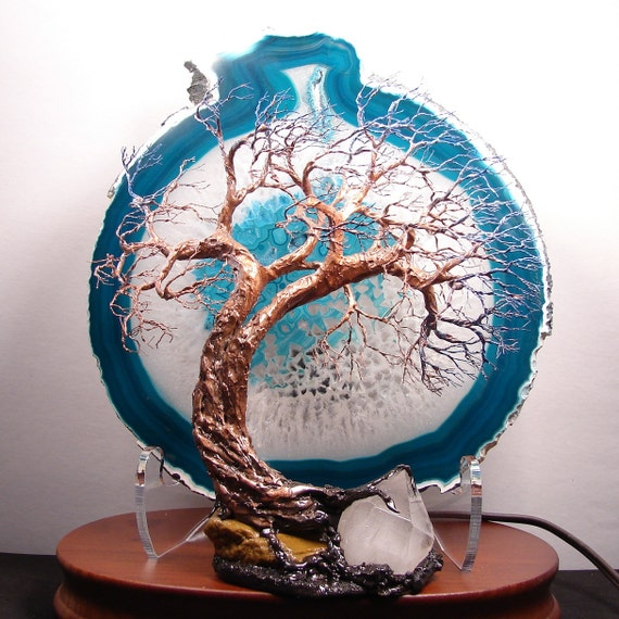 Wire Tree Of Life Soul Mate Spirits Sculpture Turquoise Brazil