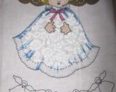 ANGEL GARLAND Cut and Sew Fabric Panel