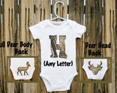 Camouflage Personalized Onesie - Baby Boy Girl Clothes - Outdoorsman Hunter Deer