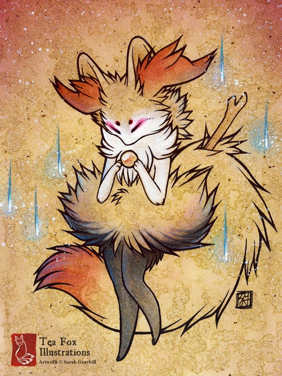 Anime Kitsune Fox Braixen Pokemon /