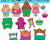 KPM Goldilocks Digital Clip art