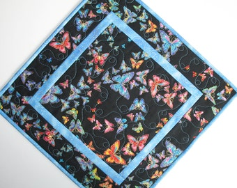 Butterfly Table Topper, Snack Mat, Candle Mat, Center Piece or Wall Hanging fabric from Timeless Treasures