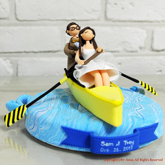 boat wedding cake topper sport of rowing boat custom wedding cake topper decoration 1991