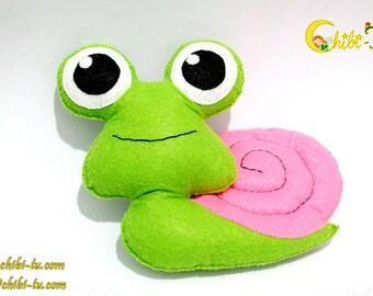 Eco Friendly Plush Snail Felt Plush / Stuffed Toy