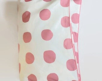 Large Dot in PInk Toddler Duvet - PInk and White Dot - Crib Duvet - Modern Baby - Preppy Baby