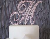 Monogram cake topper - Swarovski Crystal cake topper