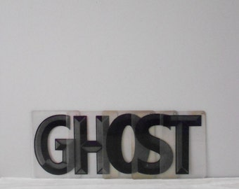 vintage hard rigid plastic gas station letters // word, phrase, letters, sign