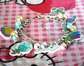 Kawaii Handmade Space Charm Bracelet - Made to order