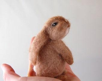 Needle Felted Bunny. Velveteen Rabbit. Baby Bunny. Woodland Animal. Needle Felt Animals. Felt Toy. Needle Felted Animal. Lop Eared Bunny