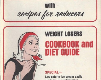 Vintage Weight Losers Cookbook and Diet Guide, Compliments of Resiscal Slimming Plan, 1967