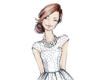 Martha - Bride - Fashion Illustration-by Brooke Hagel