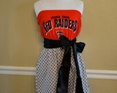 TTU Texas Tech Red Raiders Red Black & White Strapless Tube Gameday Football Dress with Black Sash Bow - Small 2 4