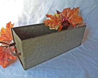 Vintage Industrial Galvanized Metal Drawer by Rench & Co.