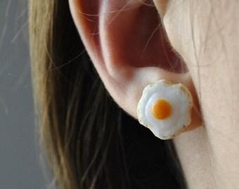Fried Egg Post Earrings