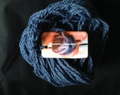 Blue Denim wool hand spun Colorado handmade worsted weight yarn