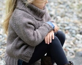 KNITTING PATTERN-The Palmyre Pullover (3/4, 5/6, 7/8, 9/10, 11/12 years )