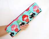 Zipper Pouch, Zippered Pouch, Pouch, Handmade Pouch, Handmade Zipper Pouch, Extra Long Zipper Pouch