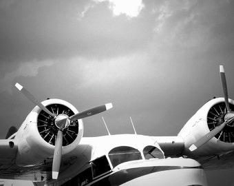 airplane art airplane decor aviation art grumman goose photo pilot gift - Aviation Decor
