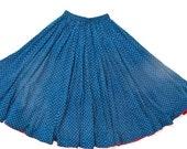 Blue and White Spots, an Indigo Madame Hall Signature Skirt