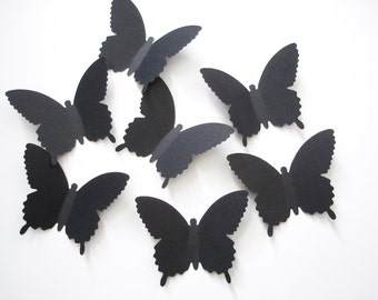 25 Extra Large Black Country Butterfly die cut punch scrapbook embellishments - No809