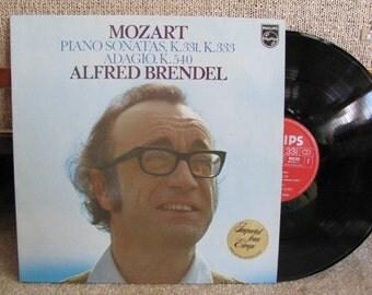 "Vintage Wolfgang Mozart  ""Piano Sonatas K. 331, K. 333, Adagio K.540"" Performed by Alfred Brendel Classical Music Vinyl Record Album - 1975"