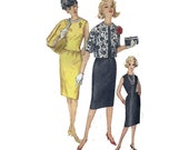 """60s Dress Suit Sewing Pattern Sleeveless Cocktail Dress and Jacket Women's UNCUT Size 14 Bust 34"""" (86 cm) Simplicity 3882"""
