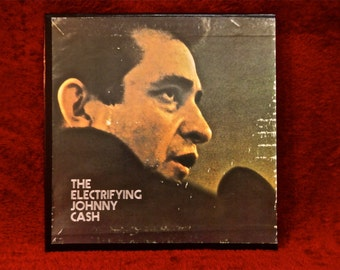 JOHNNY CASH - The Electrifying Johnny  Cash - Vintage Vinyl 4 lp Record Album Boxed Set
