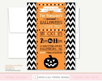 Halloween Invitation - Halloween Party - Printable Halloween Invitation