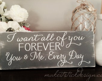 You & Me Forever Grey Distressed Wall Hanging