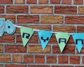 Wall-E Banner - Personalized Birthday Name Banner