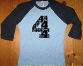 Birthday Shirt - 4 Year Old Shirt - 4th Birthday - Age Four - 4th Birthday Tee - Birthday Party - Boy / Girl - Long Sleeved - Gift Friendly