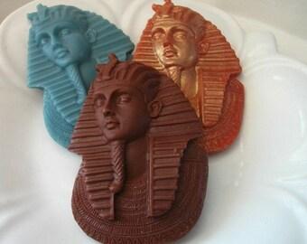 EGYPTIAN SOAP, Pharaoh Tutankhamun, King Tut Soap, Egyptian Vanilla Sandalwood, Novelty Soap, Hostess Gift, Handmade, Vegetable Based