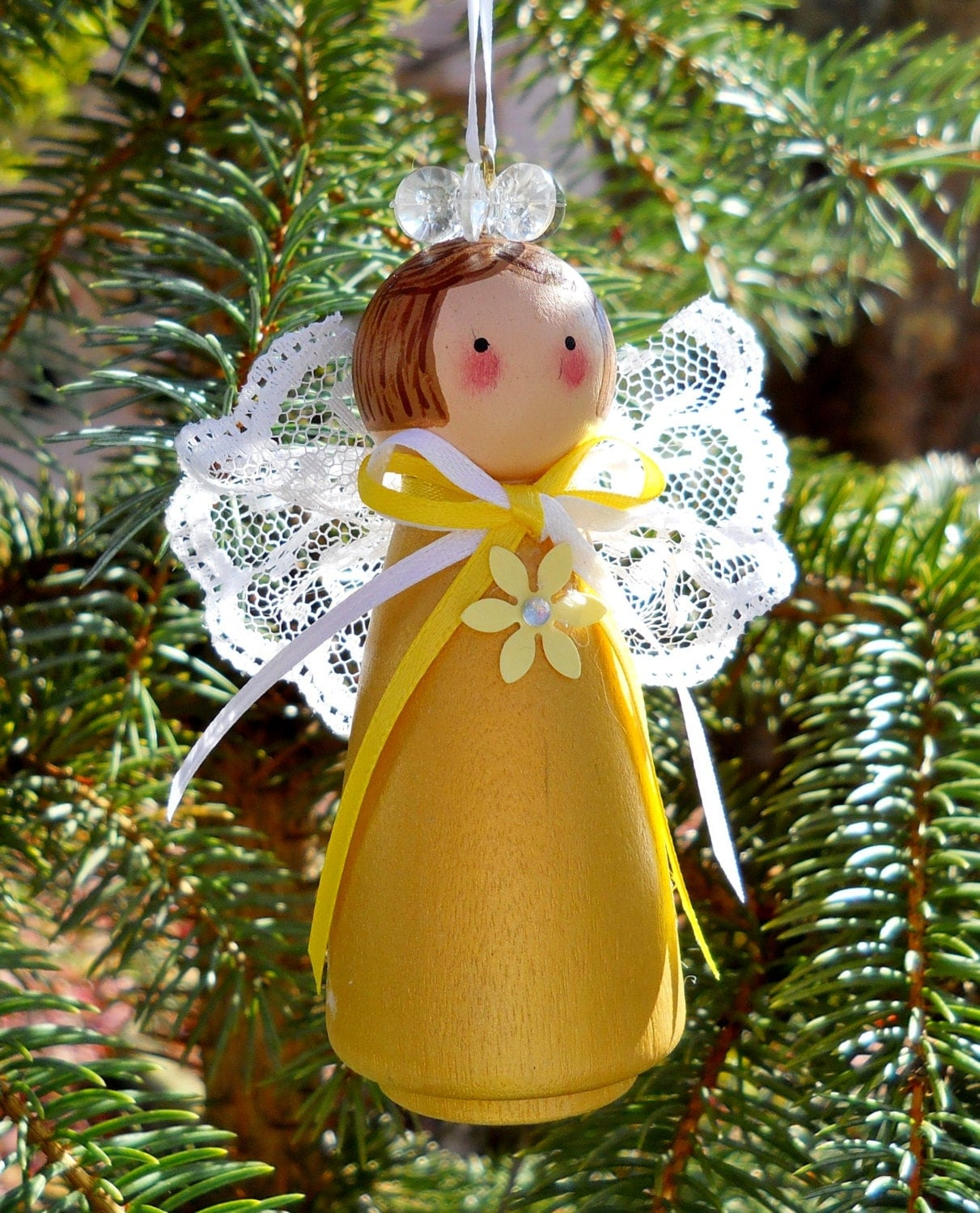 Christmas Angel Ornament Holiday Decor Tree By 2HeartsDesire