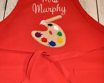 Personalized Adult Art Apron