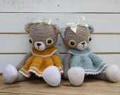 PATTERN - Doris the old-fashioned teddy bear - crochet pattern, amigurumi pattern, PDF