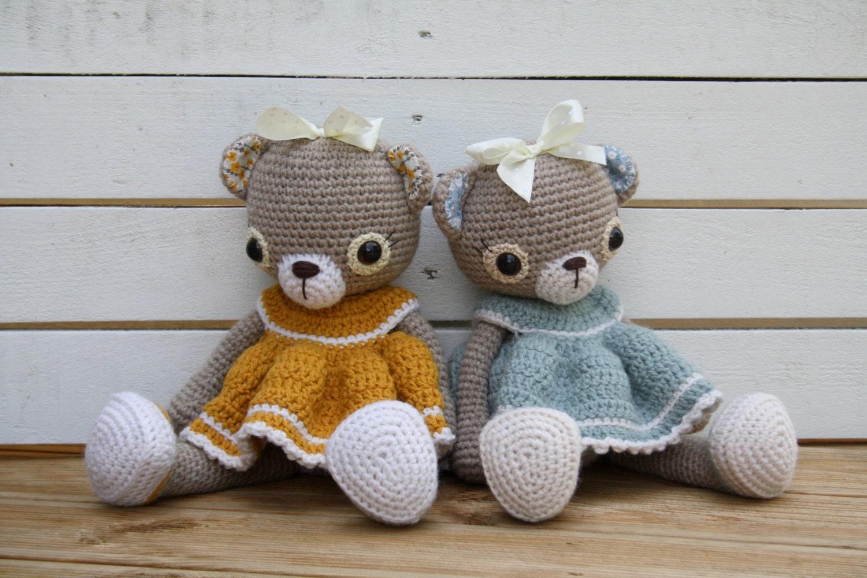 Amigurumi To Go Bear Pattern : PATTERN - Doris the old-fashioned teddy bear - crochet ...