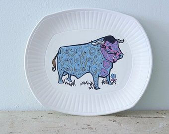 1960s Steak Grill Plate Beefeater - Washington Pottery England Staffordshire