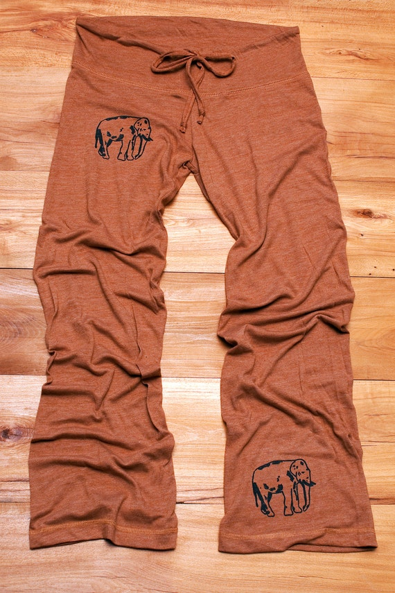 Too Tired To Argue Elephant Yoga Pants Pajamas By