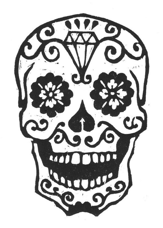 Old Fashioned image within printable sugar skull