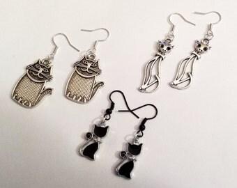 Kitty Cat love dangle earrings - #2