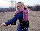 Romantic dust of rose crochet cozy scarf by olimpa