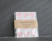 36 Mini Pastel Pink Heart Seals / Stickers