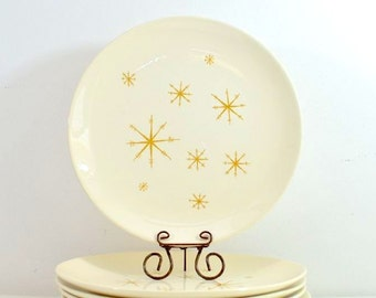 Vintage Star Glow Dinner Plates Royal China Ironstone : Set of 2