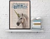 Always be a Unicorn Print- Wall art home decor, gift, grils room, unicorn geek art, giclee print, unicorn wall decor, unicorn art BPAN221b