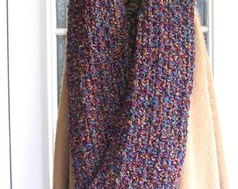 Bulky Crochet Scarf - Handmade Oversized Boho Super Scarf - Women's Warm Winter Crochet Infinity Scarf