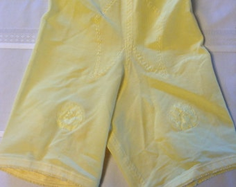 New old Stock Girdle, Size Small.  Vanity Fair.  Brite Yellow.  4 Metal garters.  Made in USA. Mad Men, Pin up, Rockabilly, Lolita.