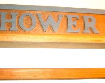 Vintage Rustic Wooden Bathroom Shelf