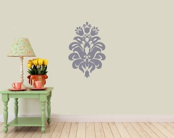 Large Baroque, damask filigree vinyl decal- wall Art, sticker art, room, home and business decor