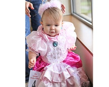 Pageant Pink baby miss America OOC Glitz Pink Princess Peach Costume Mario Brother Birthday pink wear National Wear custom 12m up to 10 yr