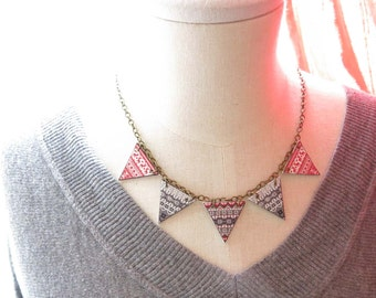 Geometric Jewelry Nordic Necklace Bunting Fall Winter Trend